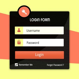 User Account Login Form UI Kit Free PSD