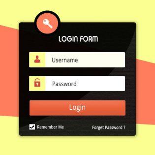User Account Login Form UI Kit Free PSD