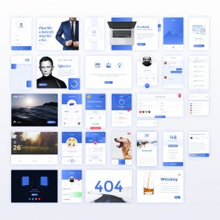 Winter UI Elements Free PSD