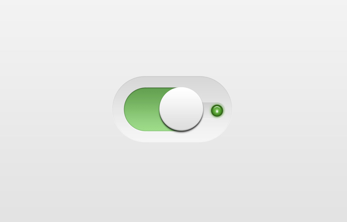 Green Switch Toggle Button Free PSD