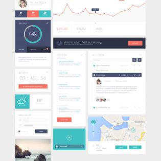 Simple clean Ui kit Free PSD
