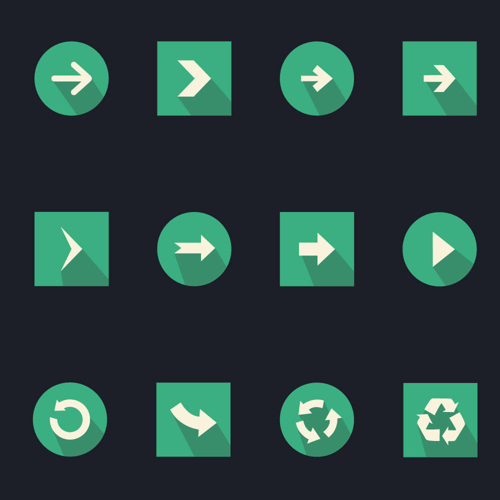 Navigation Arrow Icons Free PSD