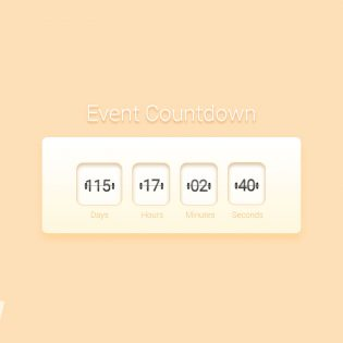 Event Countdown Widget Free PSD