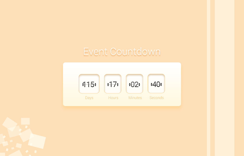 Event Countdown Widget Free PSD