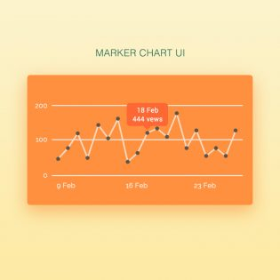 Simple Graph Chart UI Free PSD