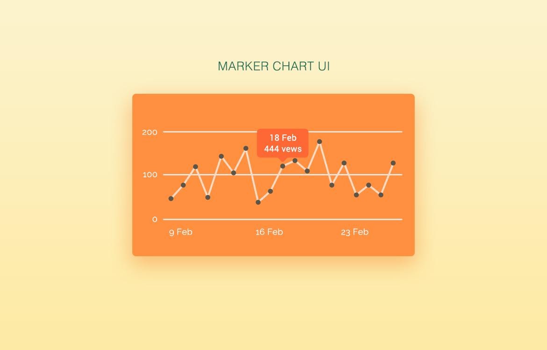 Simple Graph Chart UI Free PSD