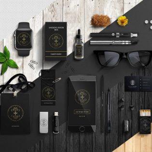 Office Items Branding Mockup Free PSD