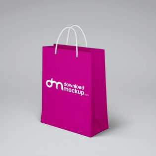 Shopping Paper Bag Design Mockup Free PSD