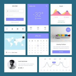 Essential Clean UI Kit Free PSD