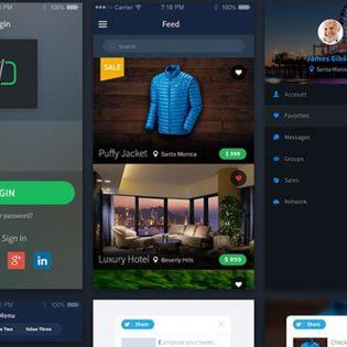 Modern eCommerce Sales App UI Free PSD
