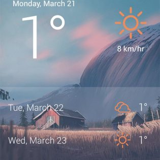 Weather App UI Free PSD