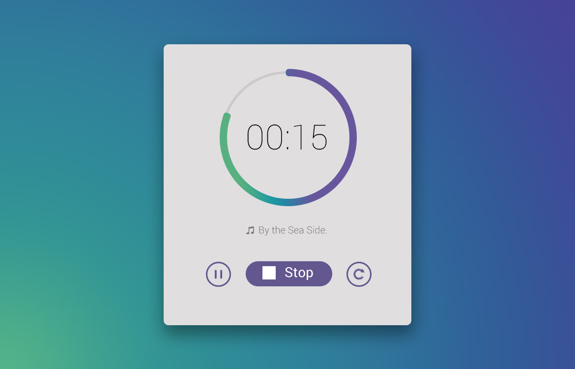 Music Time Counter UI Free PSD