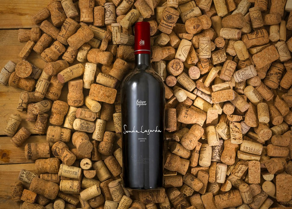 Wine Bottle and Corks Mockup Free PSD