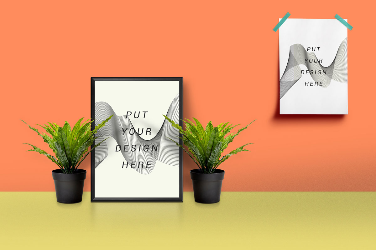 Picture Frame Amp Poster Mockup Free Psd Download Download Psd