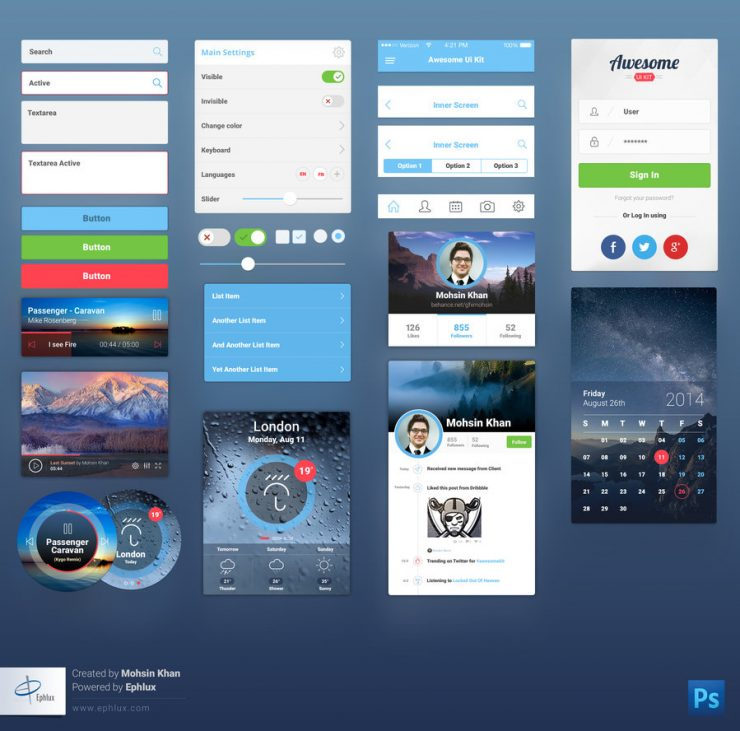 Premium Mobile UI Kit Free PSD Web Resources, Web Elements, Web Design Elements, Web, User Interface, ui set, Ui Kits, ui kit, UI elements, UI, Resources, Psd Templates, PSD Sources, psd resources, PSD images, psd free download, psd free, PSD file, psd download, PSD, Photoshop, Mobile, Layered PSDs, Layered PSD, Interface, GUI Set, GUI kit, GUI, Graphics, Graphical User Interface, Freebies, free ui kits, Free Resources, Free PSD, free download, Free, Elements, download psd, download free psd, Download, Design Resources, Design Elements, Awesome Mobile UI Kit, awesome mobile, awesome, Adobe Photoshop,
