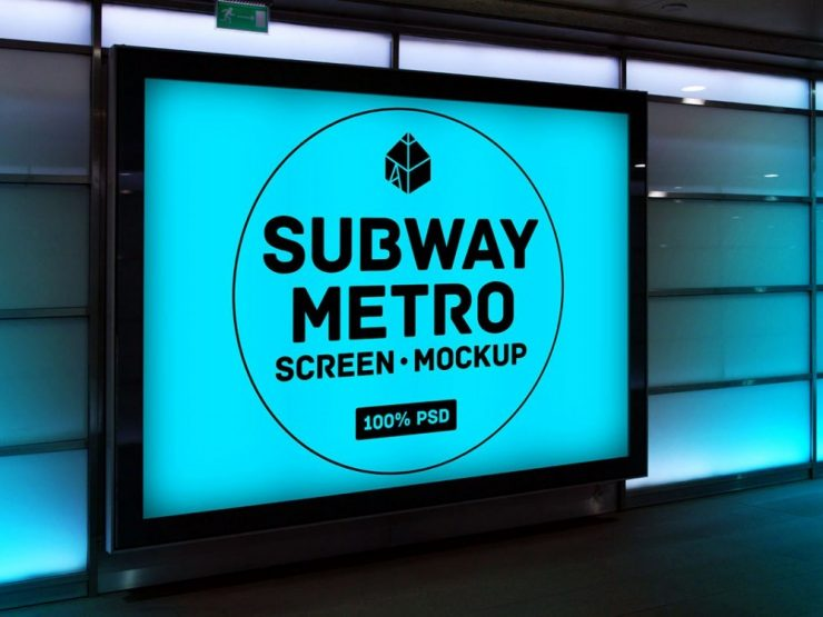 Subway Metro Screen Mockup Free PSD Subway, Showcase, Screen, PSD Mockups, psd mockup, psd freebie, presentation, photorealistic, mockup template, mockup psd, Mockup, mock-up, metro, Free PSD, free mockup, download mockup, Download, branding,