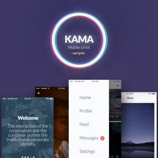 Modern iOS UI Screens Free PSD