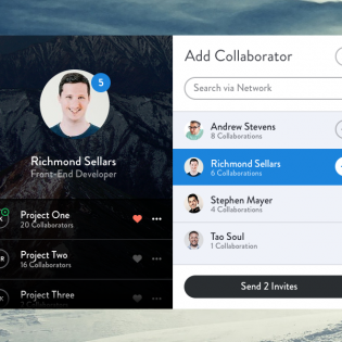 Social User Profile UI Design Free PSD