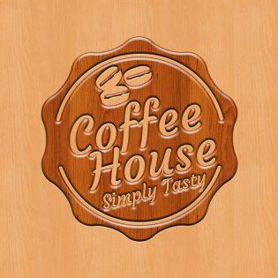 Plywood Logo Mockup Free PSD