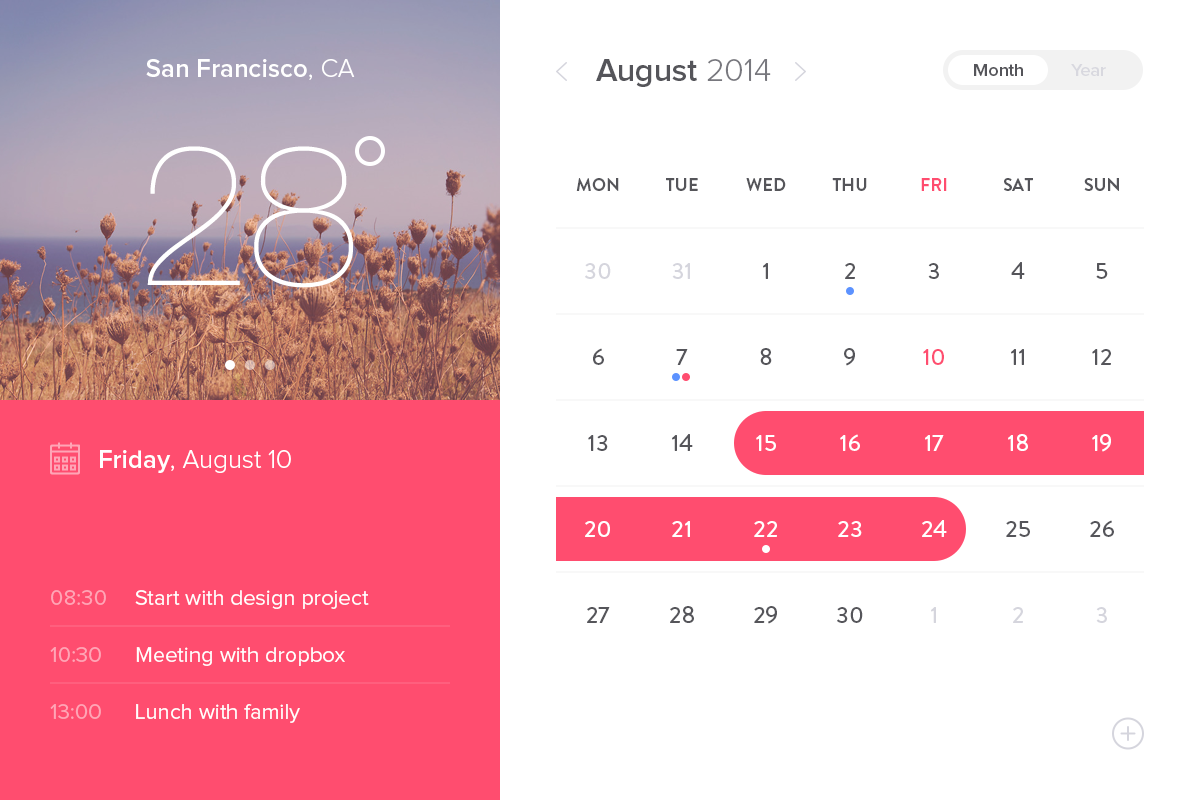Calendar Ui Design Psd : Event calendar widget ui design free psd download