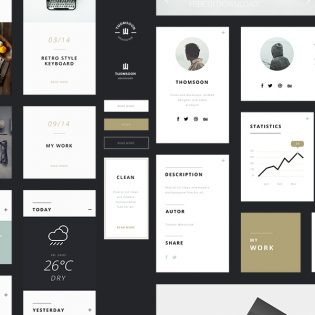 Web UI Elements for Websites Free PSD