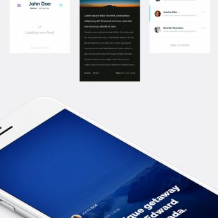 Travel Magazine Mobile App UI Kit Free PSD