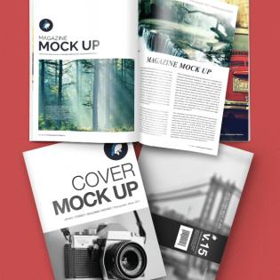 Magazine Mockup Free PSD