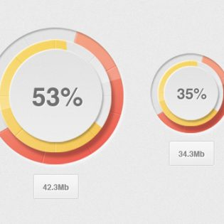 Modern Circular percentage Loader Free PSD