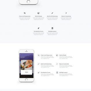 Mobile App Landing page UI Kit Free PSD