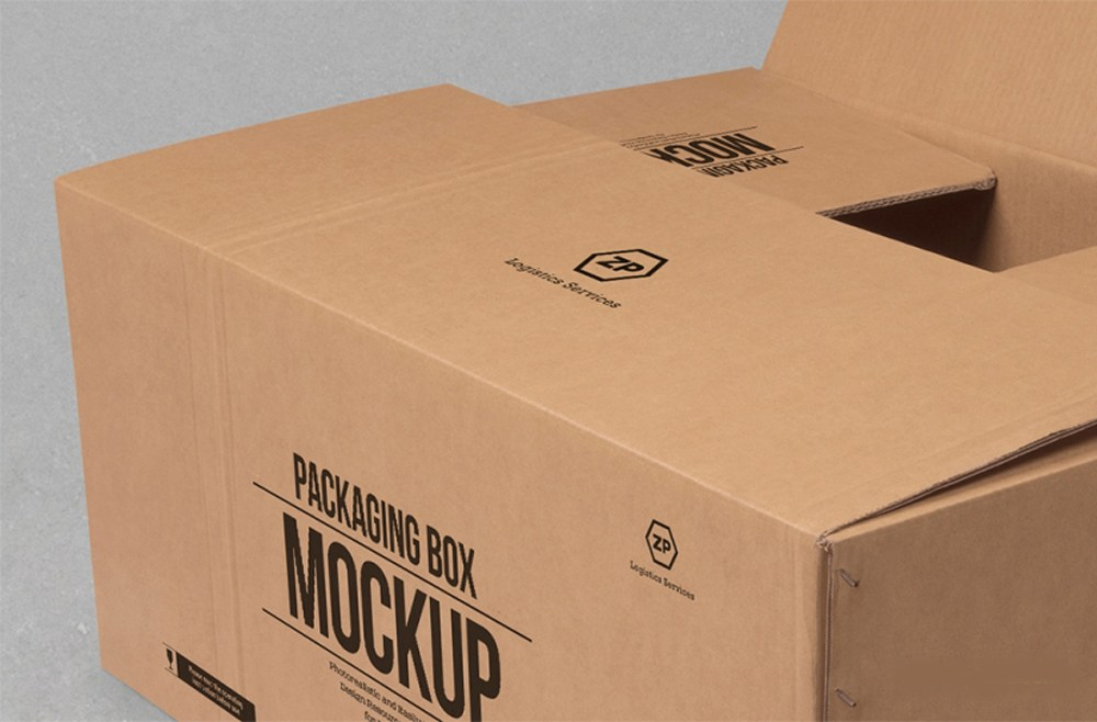 cardboard box mockup free psd download psd