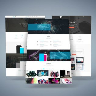 Website Presentation Mockup Free PSD