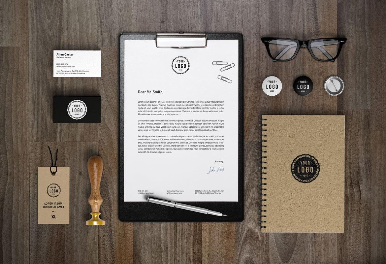 Branding Identity MockUp Free PSD