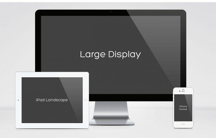 Apple Multi Device Mockup Free PSD small, Showcase, screens, PSD Mockups, psd mockup, psd freebie, presentation, photorealistic, Multipurpose, mockup template, mockup psd, Mockup, mock-up, medium, large, iPod, Iphone, Free PSD, free mockup, download mockup, Download, display, branding,