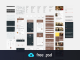 Material Design Mobile UI Element Kit Free PSD