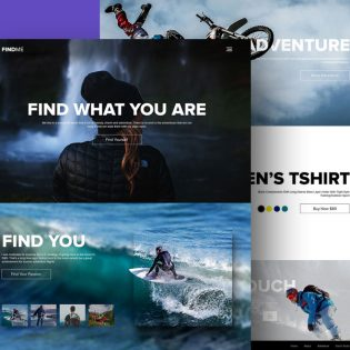 Adventure and Sports Website Template PSD