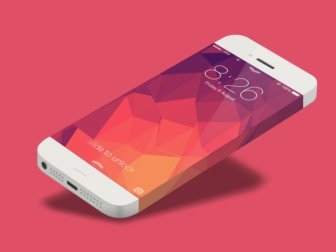 iPhone 6 Vector Mockup Template Free PSD