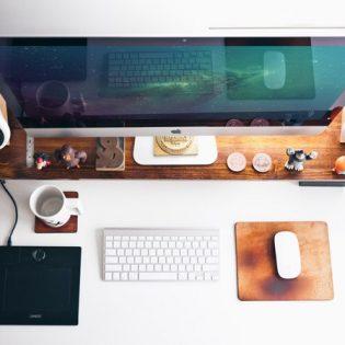 Photorealistic Top view iMac Mockup Free PSD