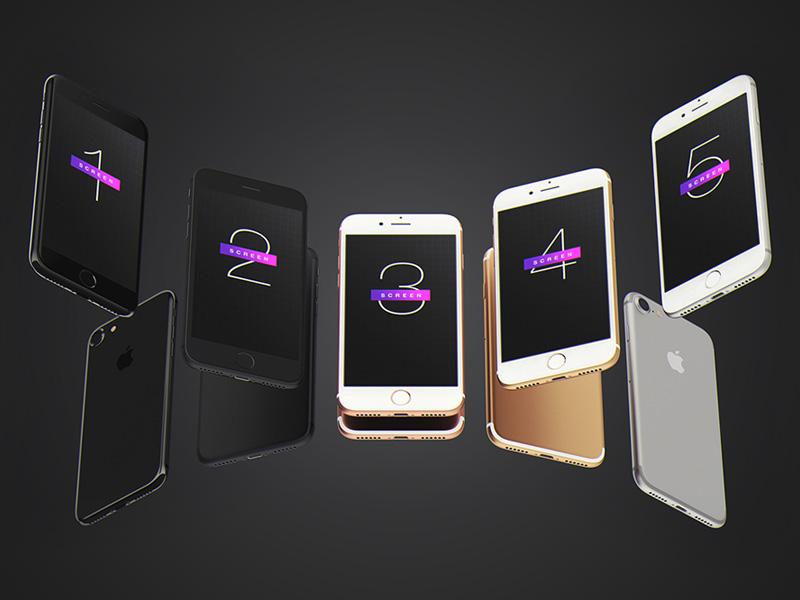 IPhone 7 Mockup Free PSD
