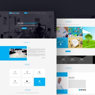 Clean and Minimal Personal Portfolio Template PSD