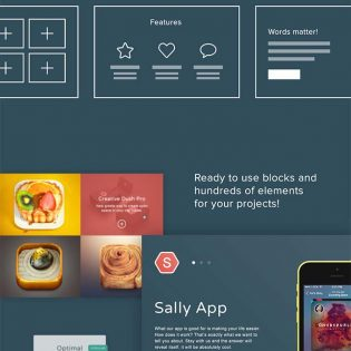 Responsive Web Elements Kit Free PSD