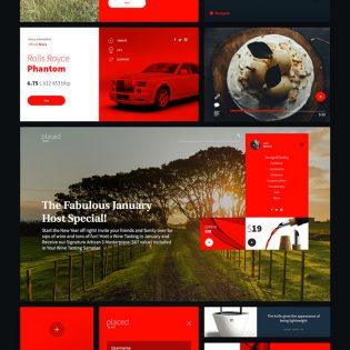 Neat and Stylish UI Kit Free PSD