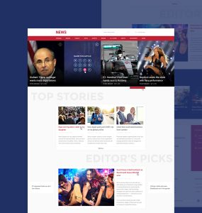 News and Magazine Style Website Template PSD