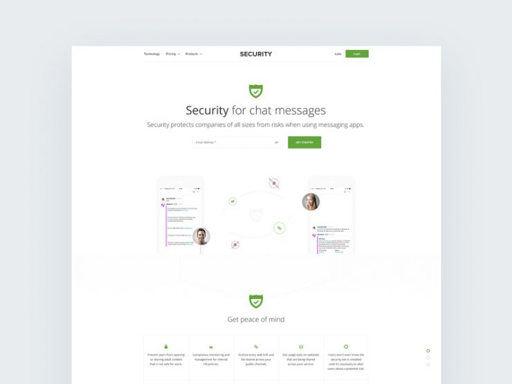 Security Services Website Template Free PSD