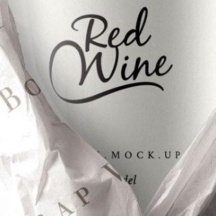 Wine Bottle Packaging Mockup Free PSD