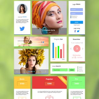Modern Web UI Kit Free PSD