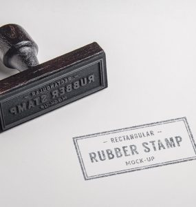 Rubber Stamp Mockup Free PSD