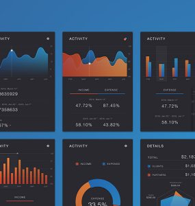 Mobile App Dashboard UI Kit Free PSD