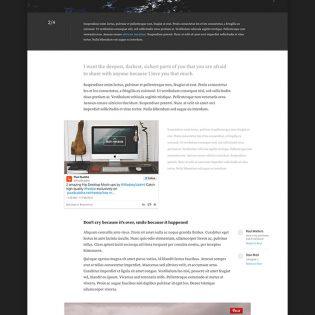 Modern Blogging UI Kit Free PSD