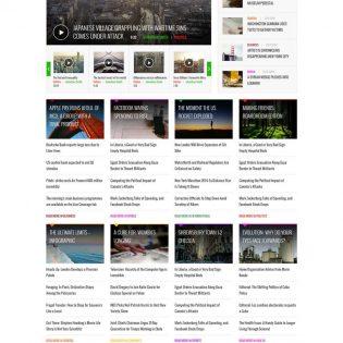 News Website Design UI Kit Free PSD