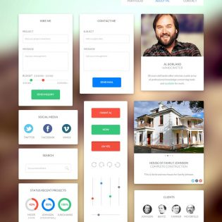 Web Widgets UI Kit Free PSD